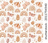 seamless pattern with... | Shutterstock .eps vector #2011754540