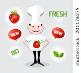 chef   cook vector illustration ... | Shutterstock .eps vector #201176279