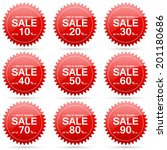 end of season sale up to 10 20... | Shutterstock .eps vector #201180686