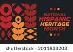 national hispanic heritage...   Shutterstock .eps vector #2011833203