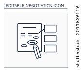 amendment line icon. minor... | Shutterstock .eps vector #2011839119