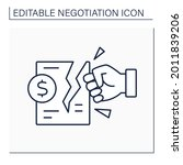 deal breaker line icon. break... | Shutterstock .eps vector #2011839206