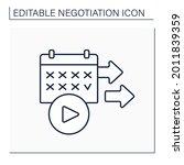 starting date line icon.... | Shutterstock .eps vector #2011839359