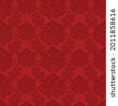 damask seamless pattern. red...   Shutterstock .eps vector #2011858616