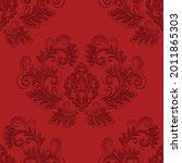 red seamless damask background. ...   Shutterstock .eps vector #2011865303