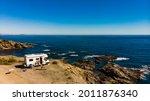 Spanish Rocky Coastline With...
