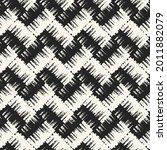 brushed ink textured chevron... | Shutterstock .eps vector #2011882079