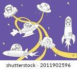 vector illustration of friendly ... | Shutterstock .eps vector #2011902596