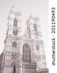 westminster abbey  london ... | Shutterstock . vector #201190493