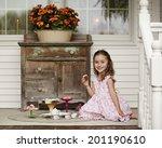 Adorable Little Girl Enjoying A ...