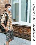 Teen Schoolboy On The Way To...