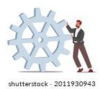 tiny businessman character... | Shutterstock .eps vector #2011930943