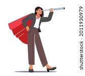 businesswoman in super hero... | Shutterstock .eps vector #2011930979