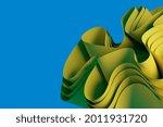 abstract yellow 3d render wavy...   Shutterstock . vector #2011931720
