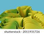 3d render a yellow abstract...   Shutterstock . vector #2011931726