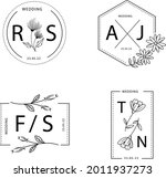wedding monogram. vintage... | Shutterstock .eps vector #2011937273