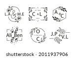 wedding monogram. vintage... | Shutterstock .eps vector #2011937906