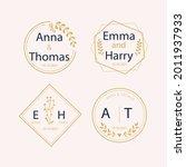 wedding monogram. vintage... | Shutterstock .eps vector #2011937933