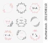 wedding monogram. vintage... | Shutterstock .eps vector #2011938110