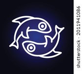 sign of the zodiac pisces.... | Shutterstock .eps vector #2011941086