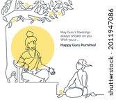 teacher and student sitting...   Shutterstock .eps vector #2011947086