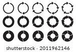 circle arrows icon set. round... | Shutterstock .eps vector #2011962146