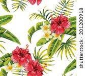 Tropic Summer Flower Hibiscus...