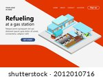 refueling at isometric style... | Shutterstock .eps vector #2012010716