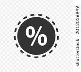transparent percent tag icon...