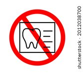 molars checkup icon with red... | Shutterstock .eps vector #2012038700
