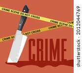 bloody knife. crime scene.... | Shutterstock .eps vector #2012044769