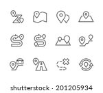 simple set of route related... | Shutterstock .eps vector #201205934