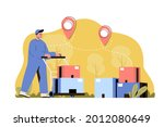 delivery warehouse concept....   Shutterstock .eps vector #2012080649