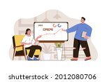 growth strategy concept....   Shutterstock .eps vector #2012080706