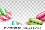 macaroons cakes and lollipop... | Shutterstock .eps vector #2012111486
