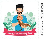 poster of happy friendship day. ...   Shutterstock .eps vector #2012129990