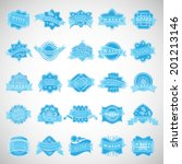 water labels set   isolated on... | Shutterstock .eps vector #201213146