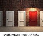 closed doors in room  unknown...   Shutterstock . vector #2012146859