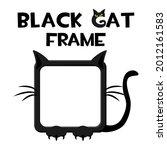 black square cat frame  cartoon ...