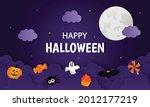 happy halloween pumpkin with...   Shutterstock .eps vector #2012177219