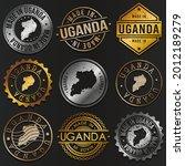 uganda business metal stamps.... | Shutterstock .eps vector #2012189279