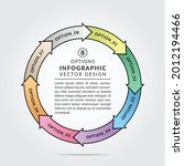 circular connected infographic...   Shutterstock .eps vector #2012194466