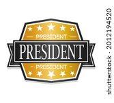 president badge icon seal.... | Shutterstock .eps vector #2012194520