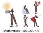 set businesswoman character... | Shutterstock .eps vector #2012220779