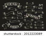 set of vintage ribbon banners.... | Shutterstock .eps vector #2012223089