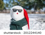 Funny Snowman With Sunglasses...
