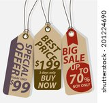 price tags vector | Shutterstock .eps vector #201224690