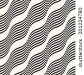 abstract wavy striped seamless... | Shutterstock . vector #201224780