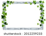 old stone game frame  vector...