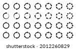 arrows icons set. the symbol of ... | Shutterstock .eps vector #2012260829